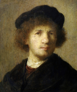 Picture no: 30007761 Rembrandt / Self-portrait / c. 1630 Created by: Rembrandt Harmenszoon van Rijn