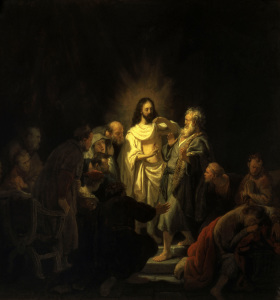 Picture no: 30007773 Doubting Thomas / Rembrandt / 1634 Created by: Rembrandt Harmenszoon van Rijn
