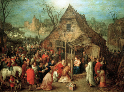 Picture no: 30007793 Adoration of the Kings / Brueghel t.E Created by: Jan Brueghel der Ältere