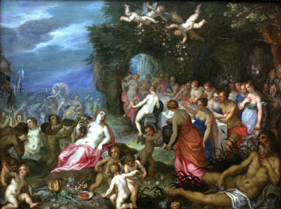 Picture no: 30007823 Balen a.Brueghel /Feast of the Gods/1620 Created by: Jan Brueghel der Ältere