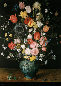 Picture no: 30007831 Bruegel t.E. / Flowers in blue vase Created by: Jan Brueghel der Ältere