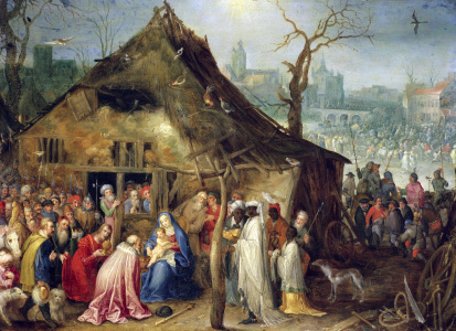 Picture no: 30007851 Adoration of the Kings / Brueghel t.E Created by: Jan Brueghel der Ältere