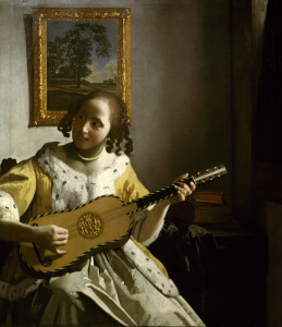 Picture no: 30007903 Vermeer van Delft / Guitar player / 1670 Created by: Jan Vermeer van Delft