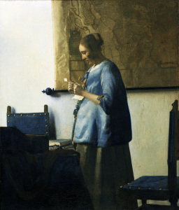 Picture no: 30007907 Vermeer / Woman in blue / c.1663/1664 Created by: Jan Vermeer van Delft
