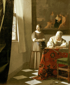 Picture no: 30007911 Vermeer / Woman writing a letter /c.1670 Created by: Jan Vermeer van Delft