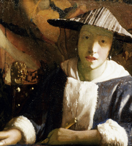 Picture no: 30007931 Vermeer / Girl with flute / c.1665/70 Created by: Jan Vermeer van Delft