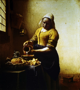 Picture no: 30007937 Vermeer / Maid with milk jug / c.1658 Created by: Jan Vermeer van Delft