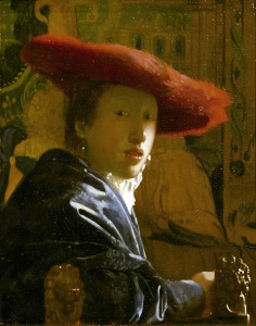 Picture no: 30007943 Vermeer / Girl with red hat / c.1665 Created by: Jan Vermeer van Delft