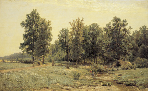 Picture no: 30007957 Shishkin / Edge of Oak Woods / Painting Created by: Schischkin, Iwan Iwanowitsch