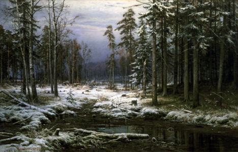 Picture no: 30007965 Schischkin / First snow / 1875 Created by: Schischkin, Iwan Iwanowitsch