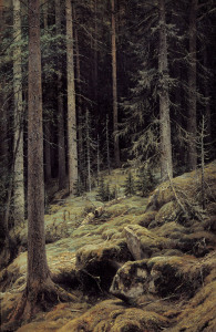 Picture no: 30007975 Shishkin / Forest Darkness / Painting Created by: Schischkin, Iwan Iwanowitsch