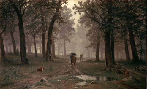 Picture no: 30007983 Shishkin / Rain in Oak Forest / 1891 Created by: Schischkin, Iwan Iwanowitsch