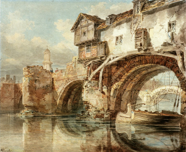 Picture no: 30008101 W.Turner, Old Welsh Bridge in Shrewsbury Created by: Turner, Joseph Mallord William