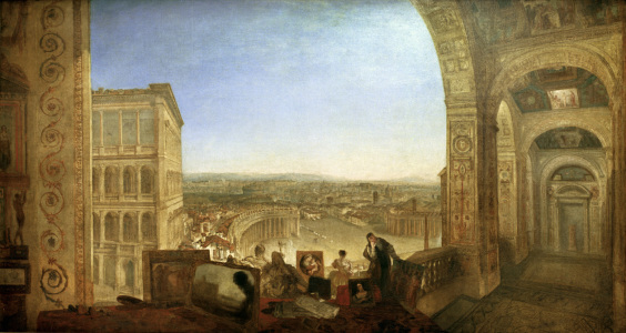 Picture no: 30008131 Turner/Rome from th.Vatican with Raphael Created by: Turner, Joseph Mallord William