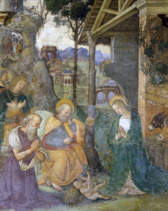 Picture no: 30008217 Pinturicchio / Adoration of the child Created by: Pinturicchio, Bernadino di Betto di Biagio
