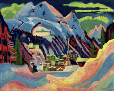 Picture no: 30008311 Kirchner / Davos in Snow / 1921 Created by: Ernst Ludwig Kirchner