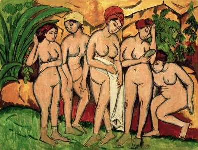 Picture no: 30008319 E.L.Kirchner, Frauen im Bade Created by: Ernst Ludwig Kirchner