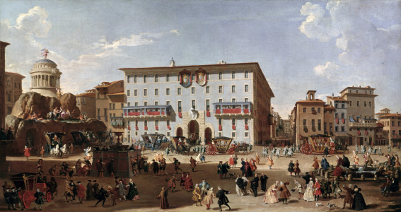 Picture no: 30008329 Rome / Piazza di Spagna / Painting Created by: Pannini, Giovanni Paolo