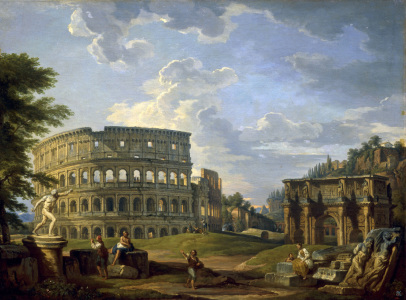 Picture no: 30008337 Rome, Colosseum a.Arch of Const./Pannini Created by: Pannini, Giovanni Paolo