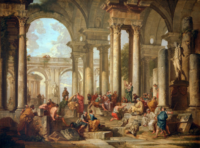 Picture no: 30008339 G.P.Pannini, Paul preaches in Athens Created by: Pannini, Giovanni Paolo