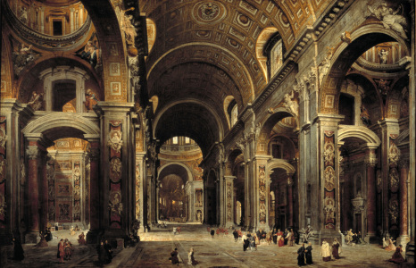 Picture no: 30008347 Rome / St.Peter / Paint.by Pannini /1730 Created by: Pannini, Giovanni Paolo