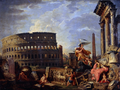 Picture no: 30008353 G.P.Pannini / Ruins with Colosseum Created by: Pannini, Giovanni Paolo
