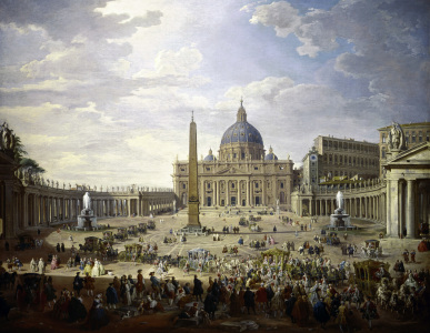 Picture no: 30008355 Rome / Saint Peter's / Pannini / Paint. Created by: Pannini, Giovanni Paolo