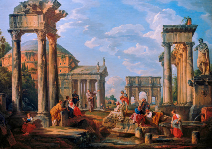 Picture no: 30008357 G. P. Pannini / Roman Architecture  Created by: Pannini, Giovanni Paolo