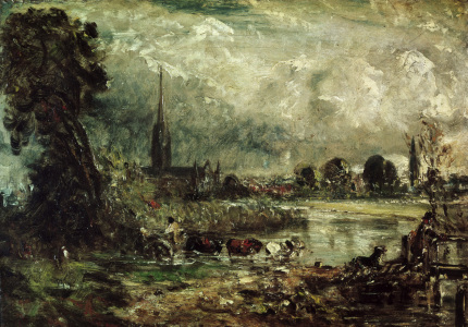 Picture no: 30008387 Constable / Salisbury Cathedral / 1829 Created by: Constable, John