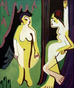 Picture no: 30008403 E.L.Kirchner, Nackte Fraue auf Waldwiese Created by: Ernst Ludwig Kirchner