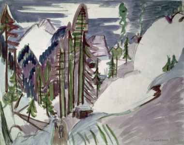 Picture no: 30008407 Kirchner / Valley near Davos / 1926 Created by: Ernst Ludwig Kirchner