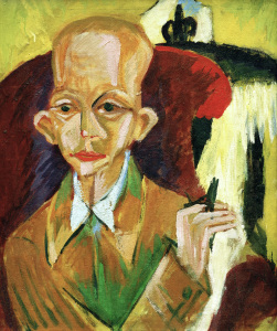 Picture no: 30008411 Oskar Schlemmer / Painting by Kirchner Created by: Ernst Ludwig Kirchner