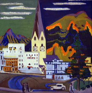 Picture no: 30008417 E.L.Kirchner, Rathaus Davos Platz Created by: Ernst Ludwig Kirchner