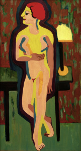 Picture no: 30008419 E.L.Kirchner, Rothaarige nackte Frau Created by: Ernst Ludwig Kirchner