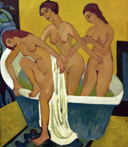 Picture no: 30008425 E.L.Kirchner / Bathing Women / 1915-25 Created by: Ernst Ludwig Kirchner