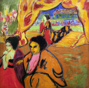 Picture no: 30008427 E.L.Kirchner, Japanisches Theater Created by: Ernst Ludwig Kirchner