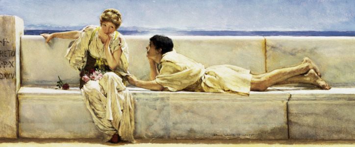 Picture no: 30008507 L.Alma-Tadema, A Question. Created by: Alma-Tadema, Lawrence