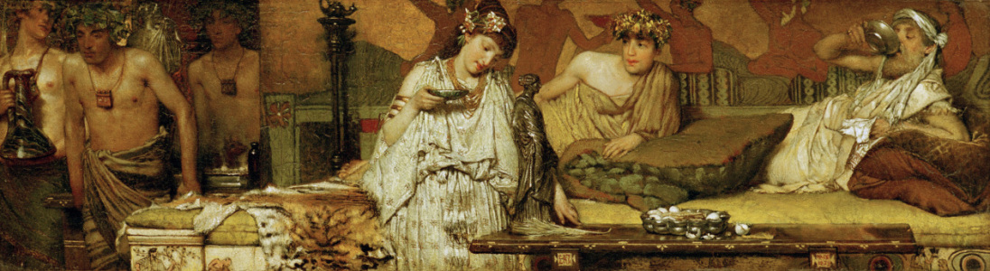 Picture no: 30008587 L.Alma-Tadema, The dinner (Greek) Created by: Alma-Tadema, Lawrence