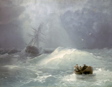 Picture no: 30008609 I.K.Aivazovsky/ Stormy day / 1885 Created by: Aiwasowski, Iwan Konstantinowitsch