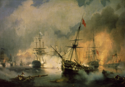 Picture no: 30008621 Sea battle of Navarino / Aivasovski Created by: Aiwasowski, Iwan Konstantinowitsch