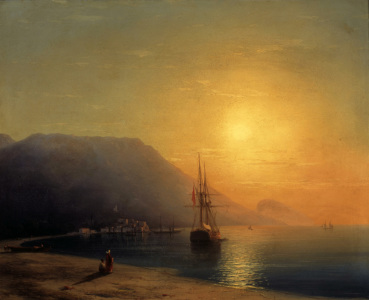 Picture no: 30008629 I.Aivazovsky, Sunset off Ayu Dag, 1861. Created by: Aiwasowski, Iwan Konstantinowitsch