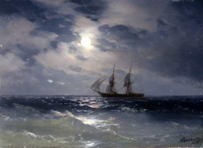 Picture no: 30008631 Aivasovski / Sailing Ship in Moonlight Created by: Aiwasowski, Iwan Konstantinowitsch