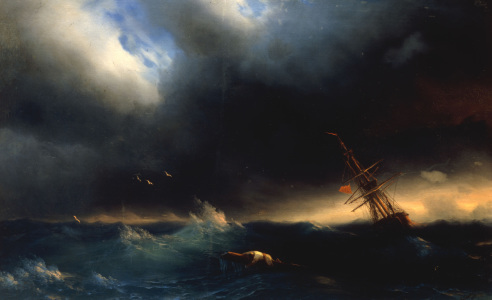Picture no: 30008639 I.K.Aivazovsky, The Survivor, 1853 Created by: Aiwasowski, Iwan Konstantinowitsch