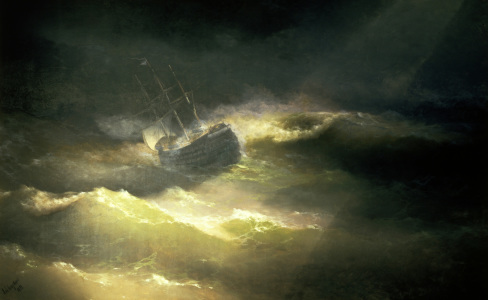 Picture no: 30008649 I.K.Aivasovsky / Ship in Storm / 1892 Created by: Aiwasowski, Iwan Konstantinowitsch