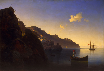 Picture no: 30008653 I.K.Aivasovsky / Coast of Amalfi / 1841 Created by: Aiwasowski, Iwan Konstantinowitsch