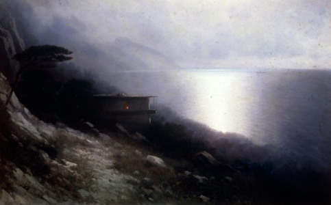 Picture no: 30008661 I.K.Aivazovsky, Moonlight over the Crim Created by: Aiwasowski, Iwan Konstantinowitsch