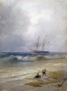 Picture no: 30008665 I.K.Aivasovsky / Ship out at Sea / 1896 Created by: Aiwasowski, Iwan Konstantinowitsch