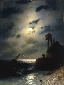Picture no: 30008673 I.Aivazovsky, Moonlit Seascape, 1863 Created by: Aiwasowski, Iwan Konstantinowitsch