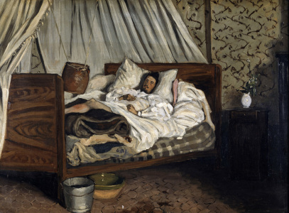 Picture no: 30008687 Wounded Monet / Paint.by Bazille / 1865 Created by: Bazille, Frédéric