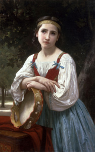 Picture no: 30008737 W.Bouguereau, Bohémienne au Tambour,1867 Created by: Bouguereau, William Adolphe